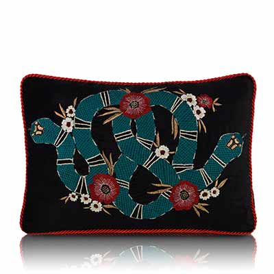 obsidian serpent cushion cover