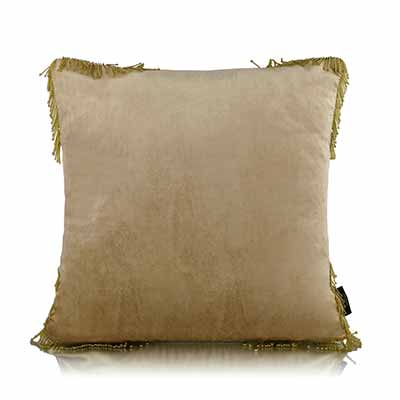 solid gold pipe cushion cover