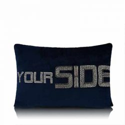 Side Divider Dark Blue Cushion Cover