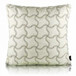 Leaflet Plaid Faux Silk Euro Cushion Cover