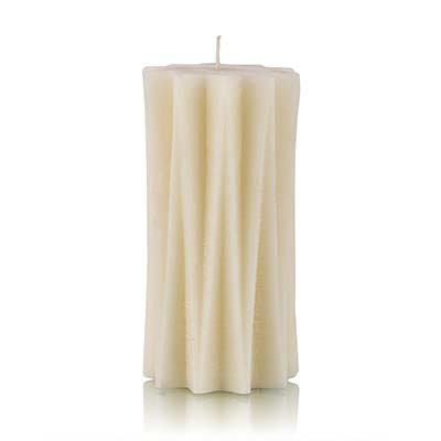 stria candle white