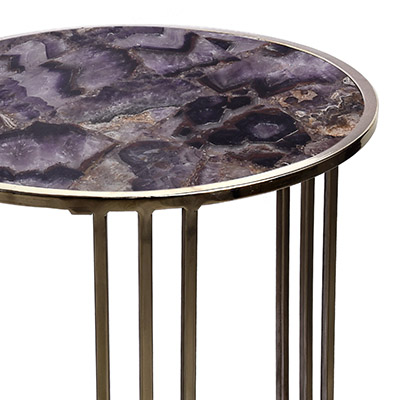 chalcedony agate silver table