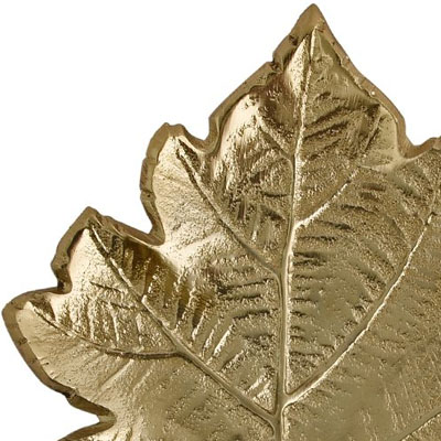 Grapevine Leaf Wall Décor Gold