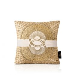 imperio white velvet beaded cushion cover