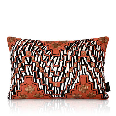 Tonk Burnt Orange Suede With Fringe Cushion Cover