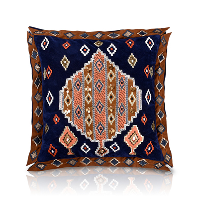 Izapa Navy Suede Cushion Cover