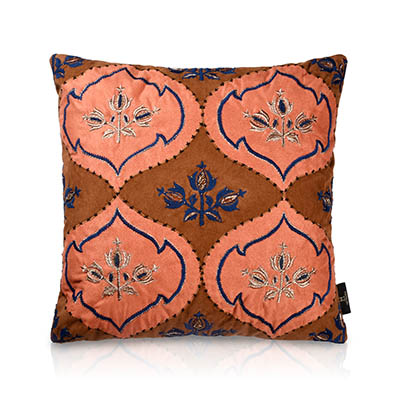 Kalpataru Suede Patch Cushion Cover