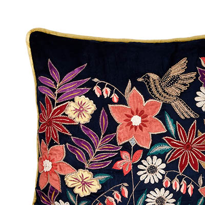 SOIR AMOUR MIDNIGHT BLUE VELVET CUSHION