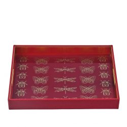 Red Volary Serving Tray Large