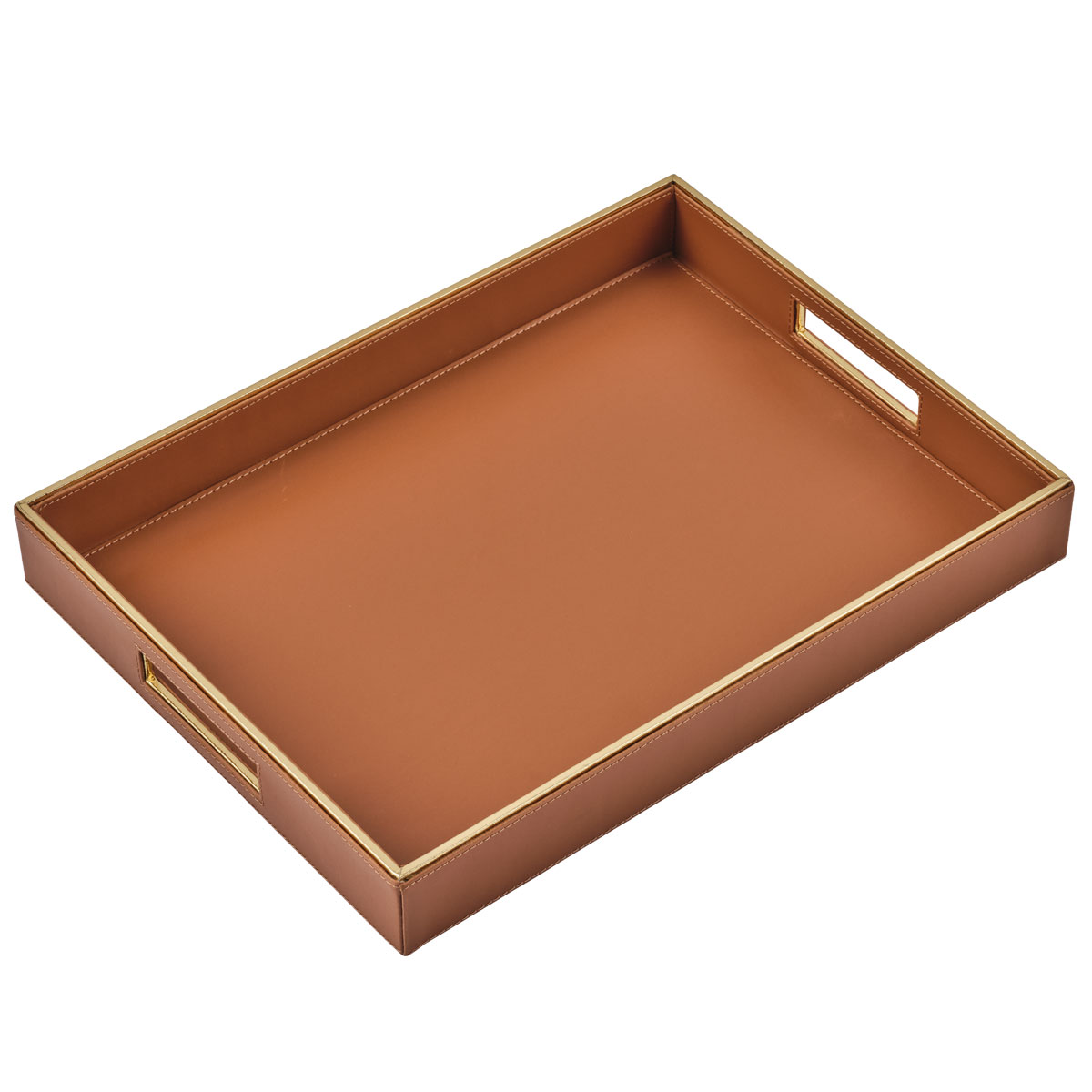 orange luxor serving tray large