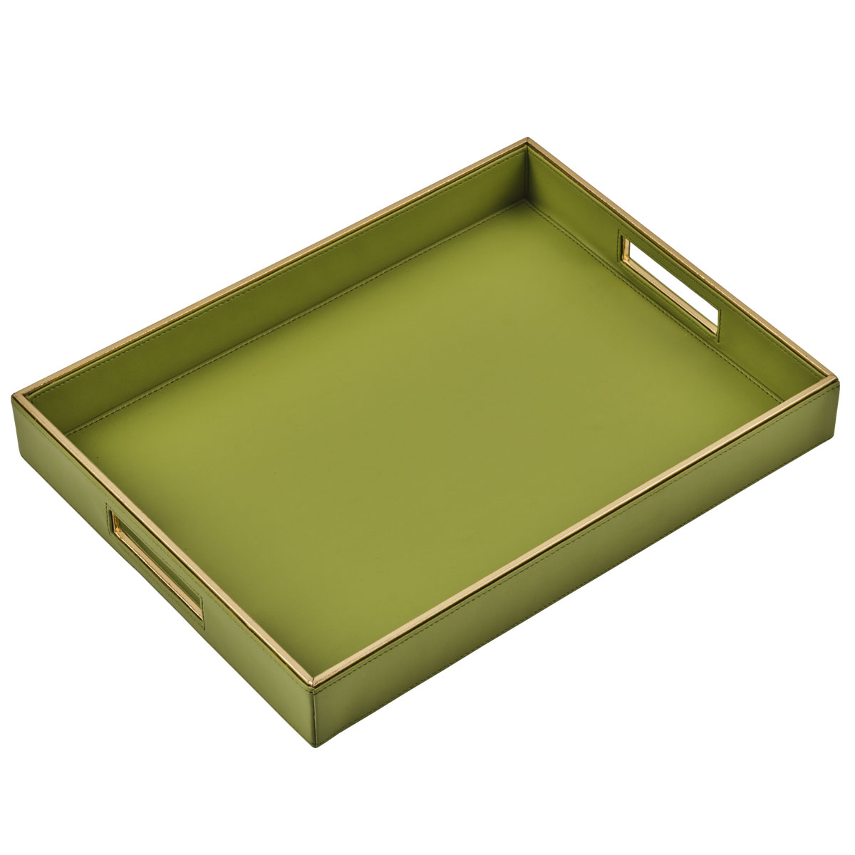 green luxor serving tray large