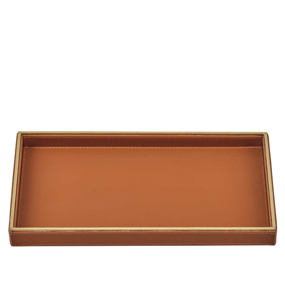 orange luxor serving tray small