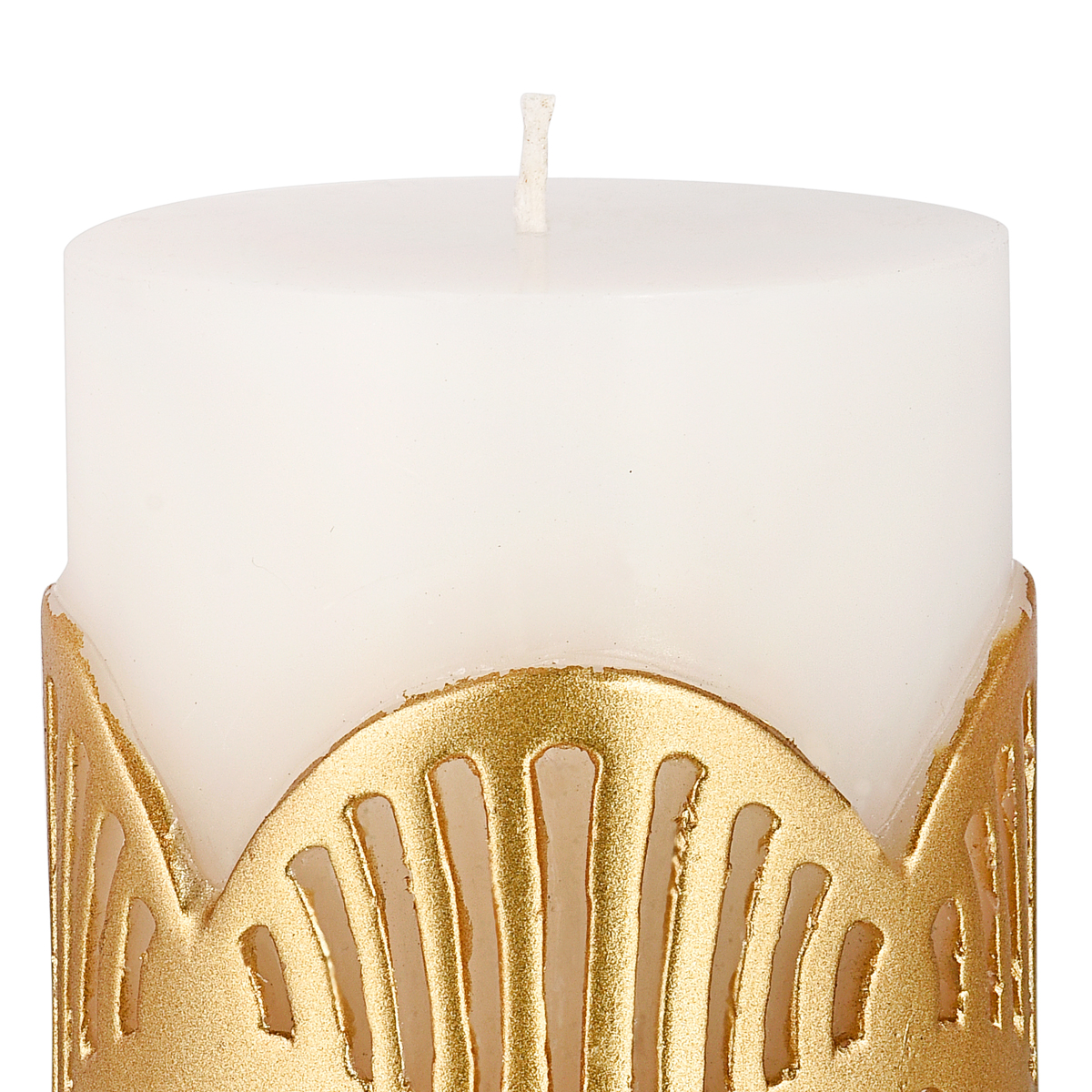 JALI PILLAR CANDLE GOLD SMALL