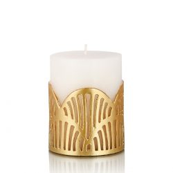Heimars Jali Pillar Candle Gold Small