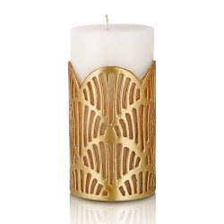 Heimars Jali Pillar Candle Gold Large