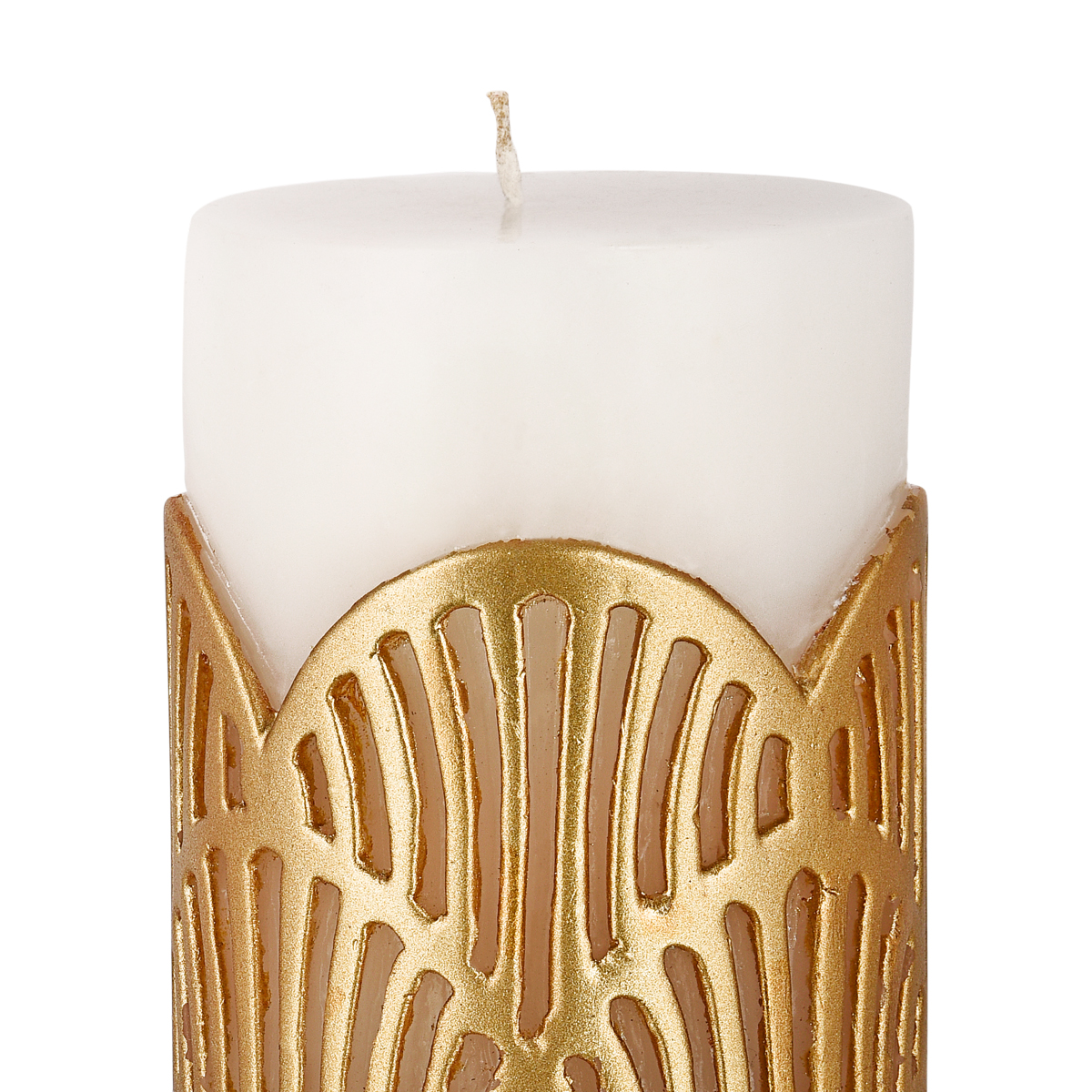 JALI PILLAR CANDLE GOLD LARGE